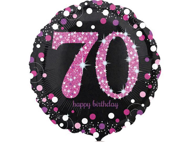 Folienballon 70 pink celebration