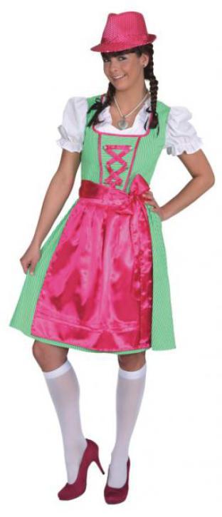 Dirndl Marie grün-pink Gr. 36