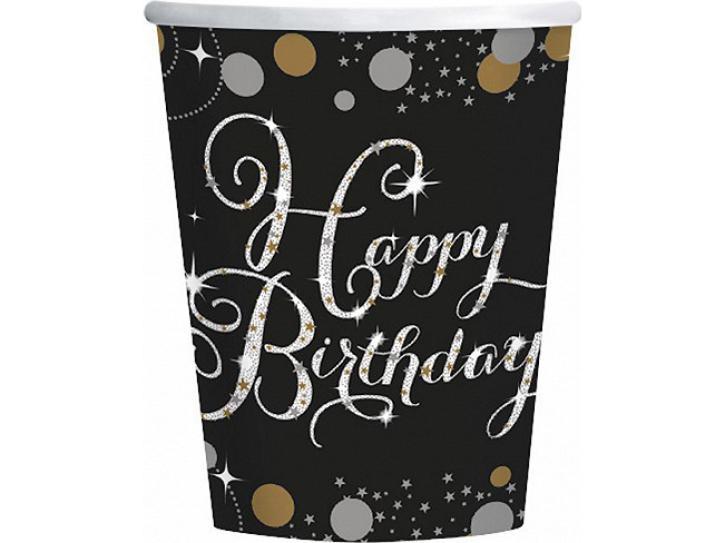 Becher Happy Birthday 8 Stk.