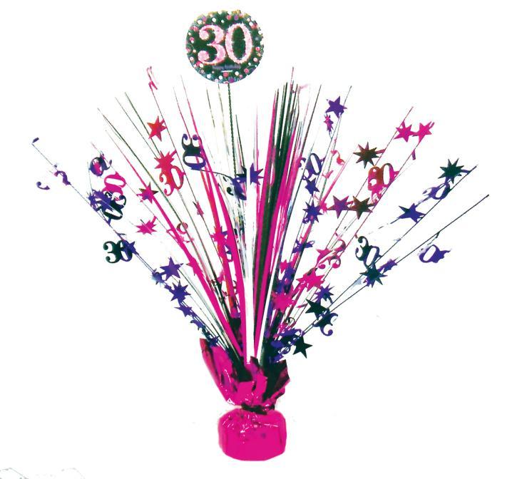 Tischfontäne 30. Geburtstag pink