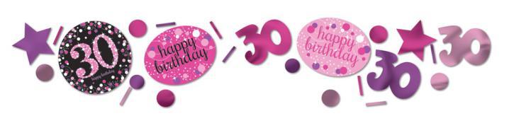 Konfetti Happy Birthday 30. pink