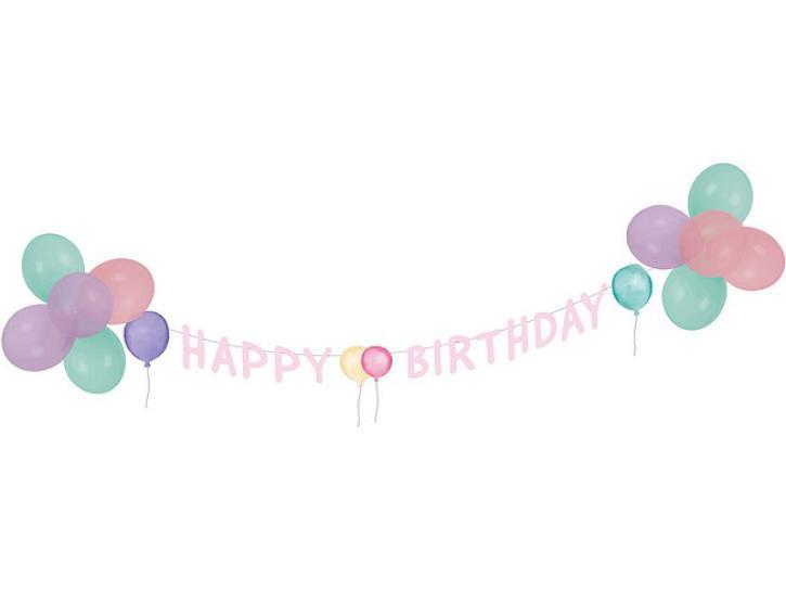 Deko Set Happy Birthday Pastell