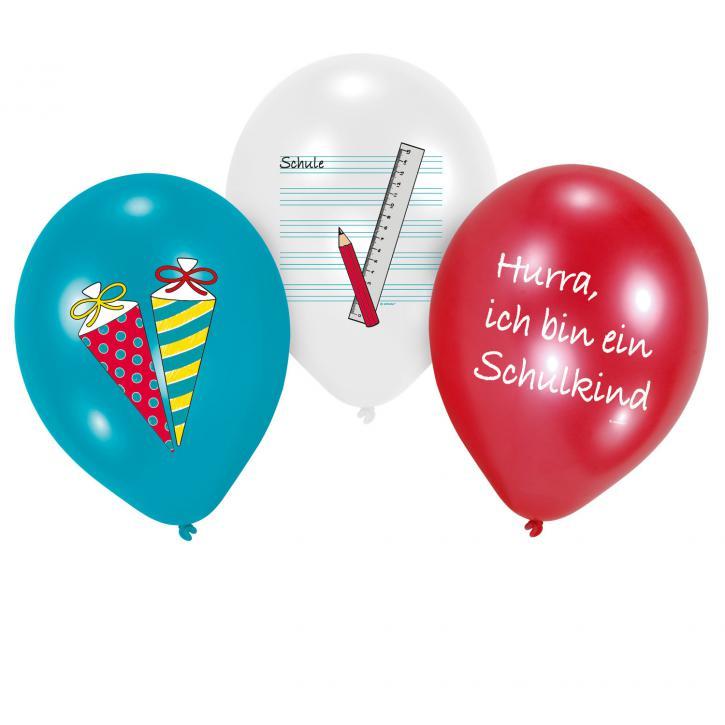 Luftballon Schulanfang 6 Stk.