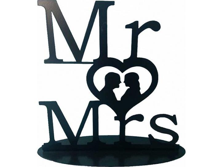 Aufsteller Mr. & Mrs. schwarz