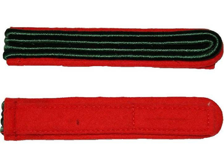 Schulterstücke rot/grün 2 Streifen