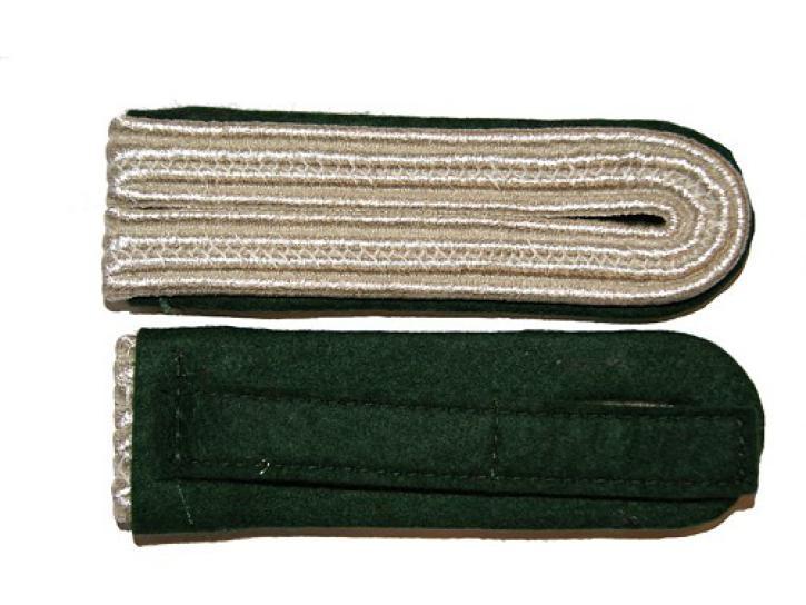 Schulterstücke grün/silber 4 Streifen