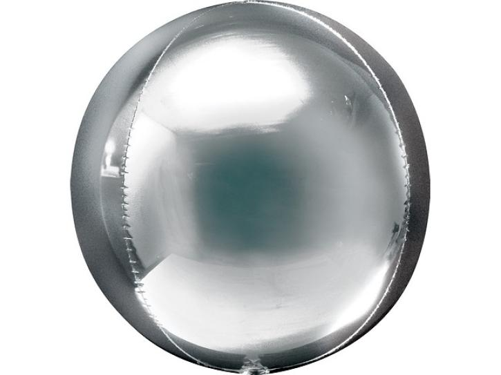 Folienballon Ball silber