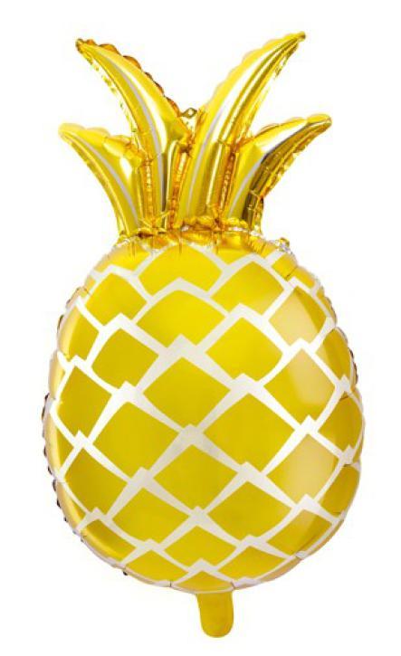 Folienballon Ananas gold