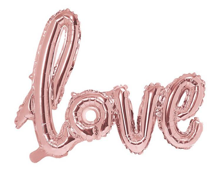 Folienballon Schriftzug Love rosegold
