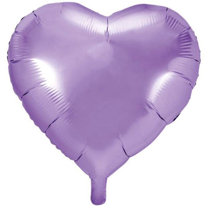 Folienballon Herz flieder 61cm