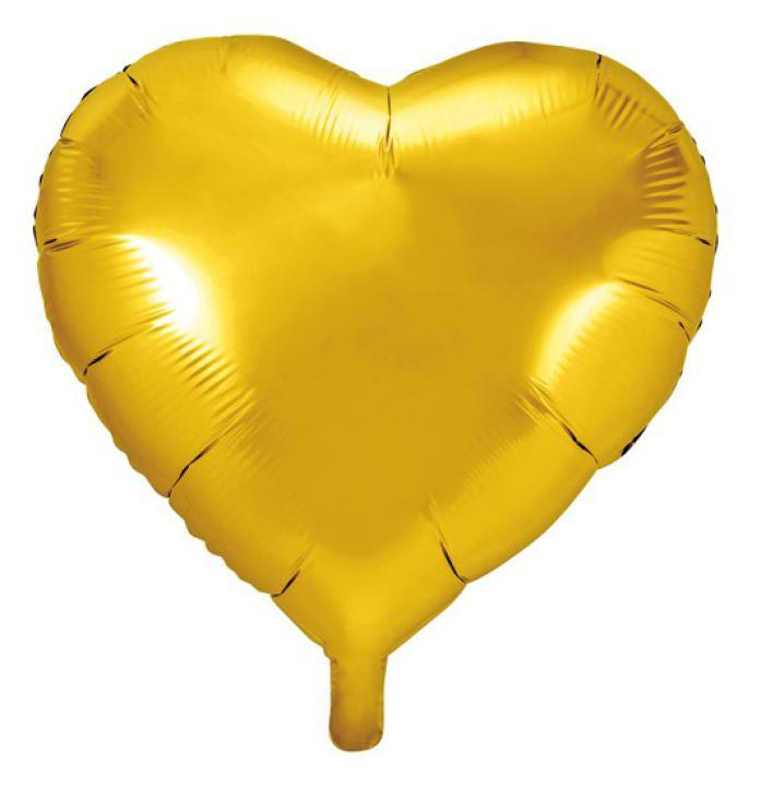 Folienballon Herz gold 61cm
