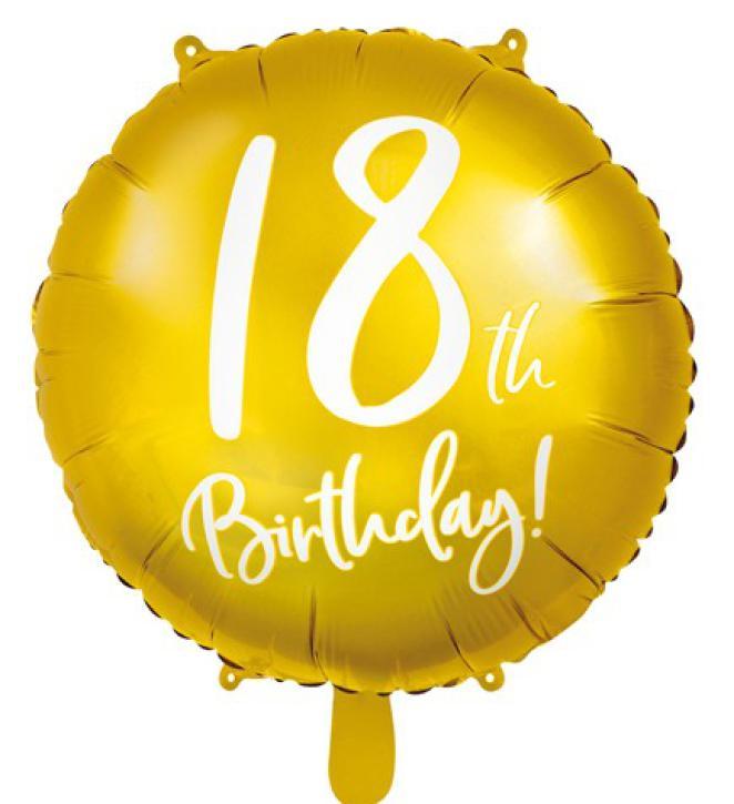 Folienballon 18 th Birthday