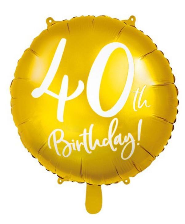 Folienballon 40 th Birthday