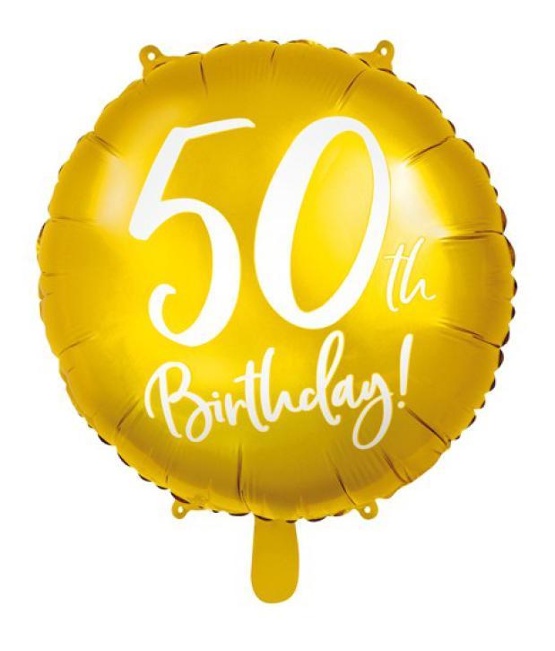 Folienballon 50 th Birthday