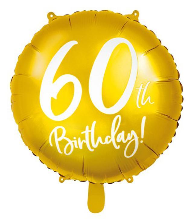 Folienballon 60 th Birthday