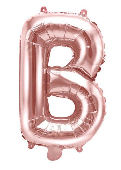 Folienballon Buchstabe B rosè gold