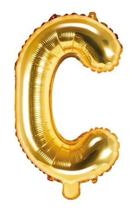 Folienballon Buchstabe C gold