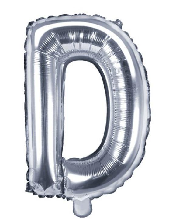 Folienballon Buchstabe D silber