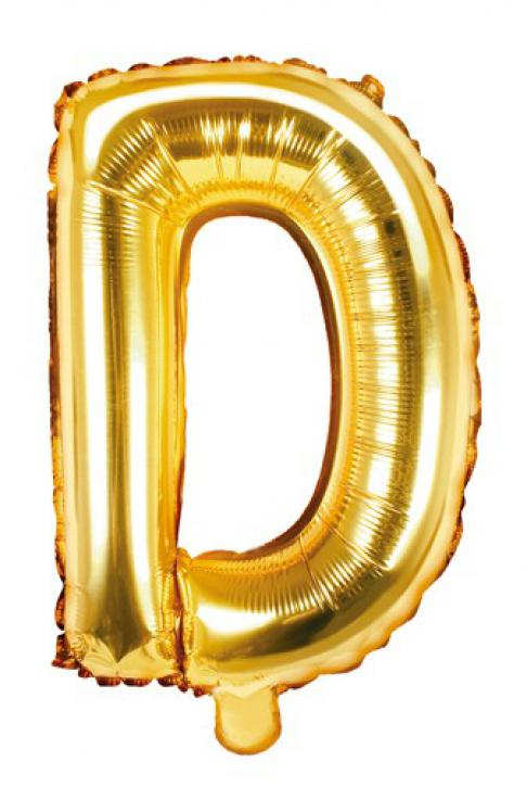 Folienballon Buchstabe D gold
