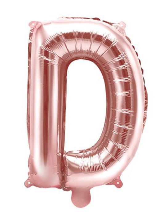 Folienballon Buchstabe D rosè gold