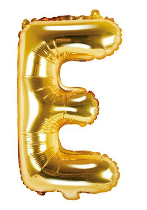 Folienballon Buchstabe E gold