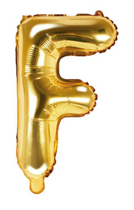 Folienballon Buchstabe F gold