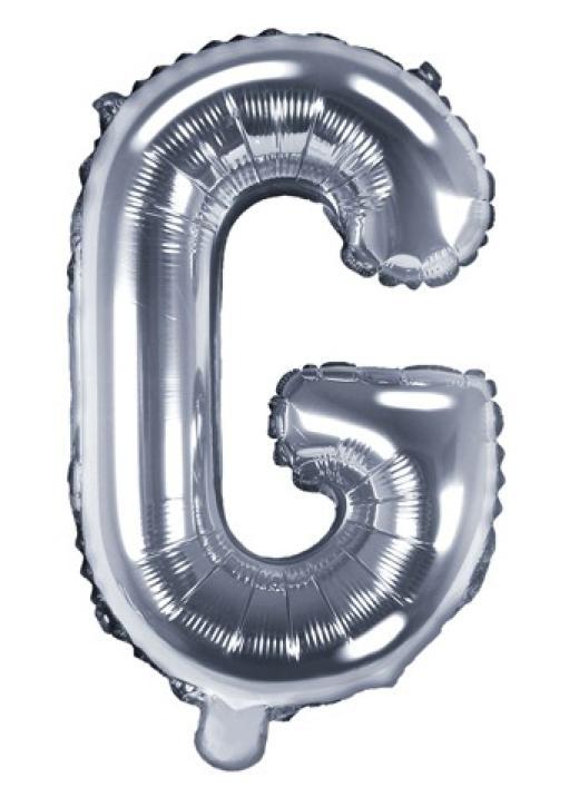 Folienballon Buchstabe G silber