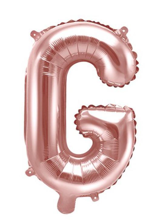 Folienballon Buchstabe G rosè gold