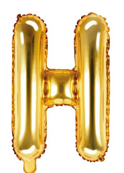 Folienballon Buchstabe H gold