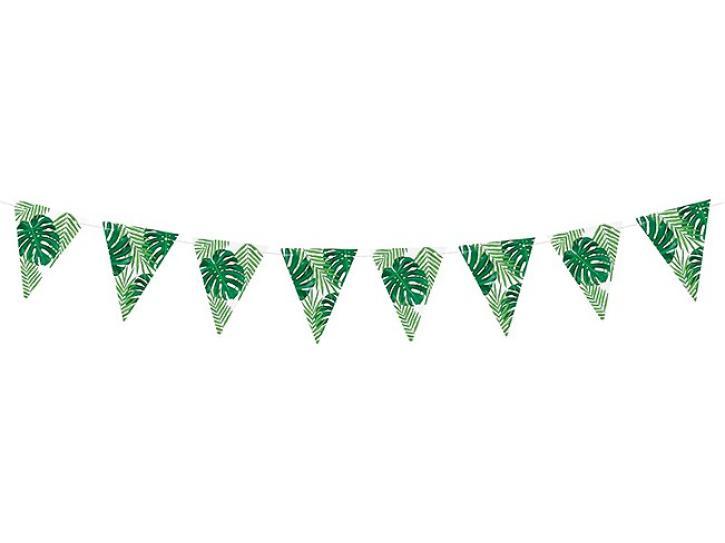 Wimpelkette Blätter grün 2m