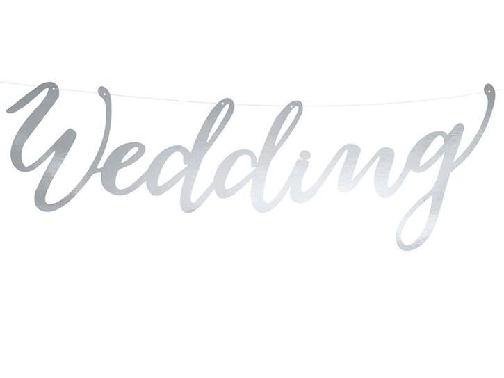 Hochzeitsbanner Wedding silber