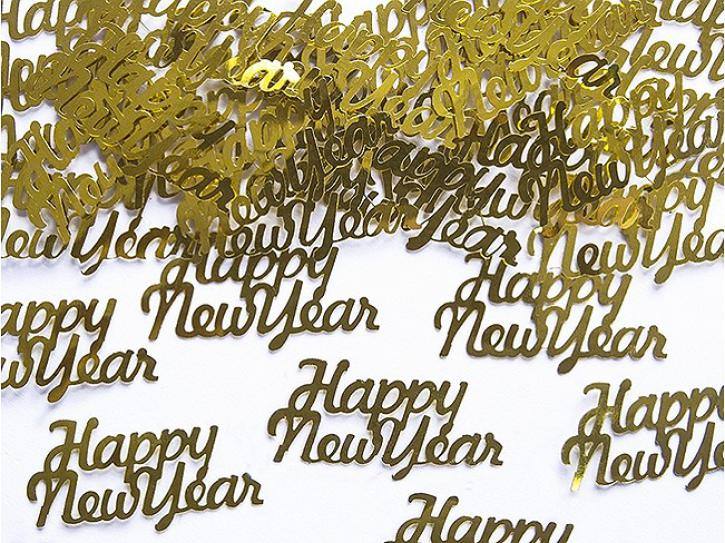 Konfetti Happy New Year gold 3g