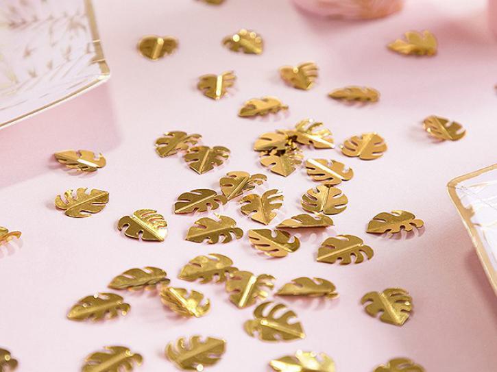 Konfetti Blätter gold 15g