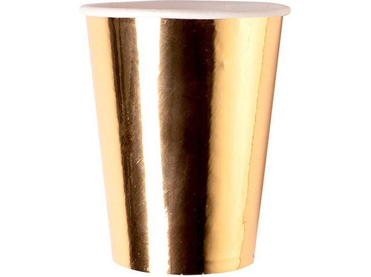 Becher gold 6 Stk.