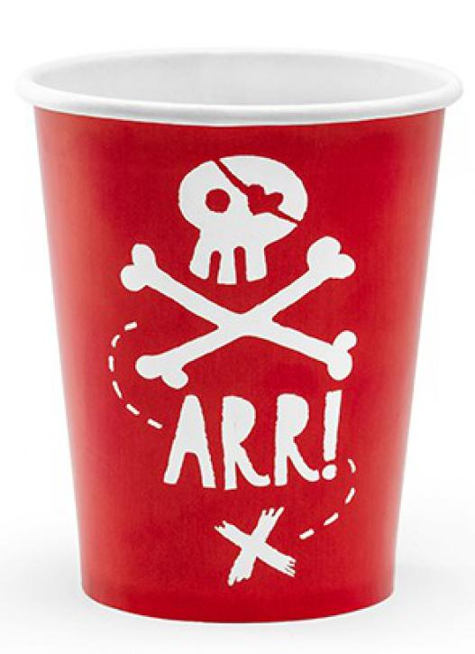Becher Pirate Party 6 Stk.