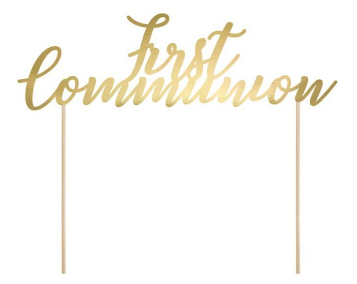 Tortentopper first Communion gold