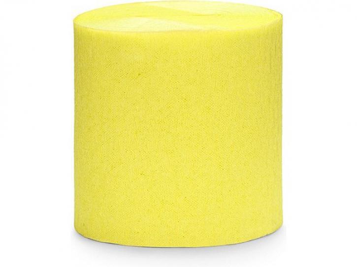 Girlande Crepe gelb 4 Stk.
