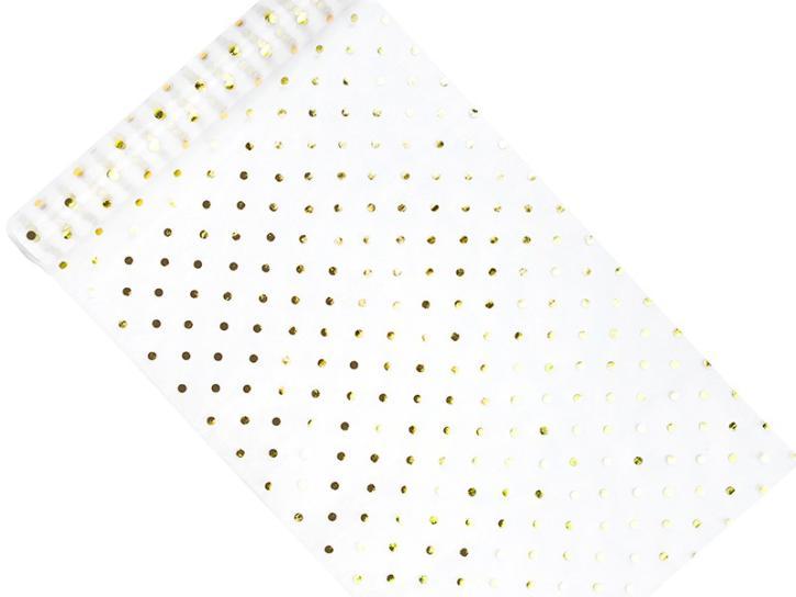 Organza bedruckt goldene Tupfen 0,36 cm