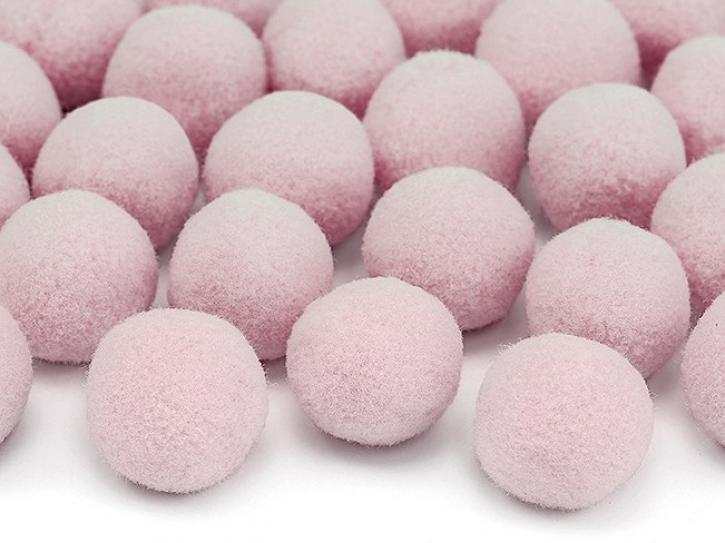Pompons rosa 20 Stk.