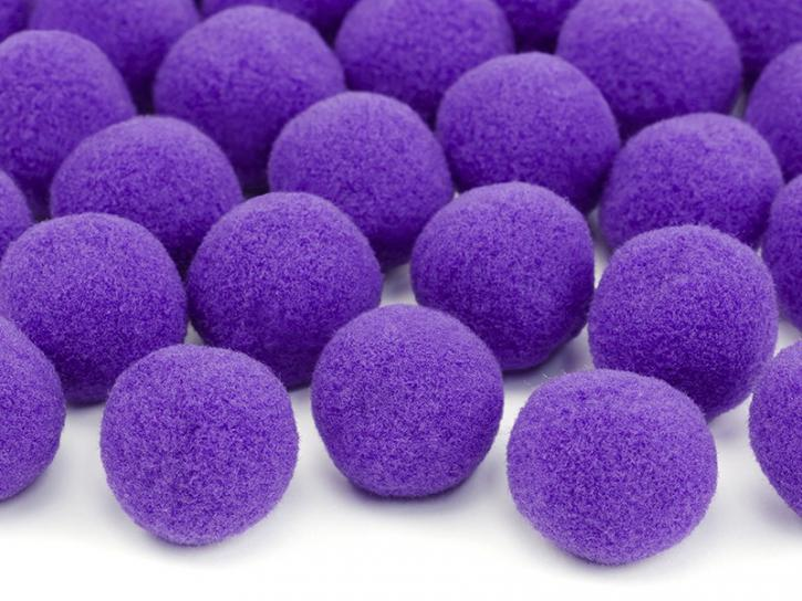 Pompons violett 20 Stk.