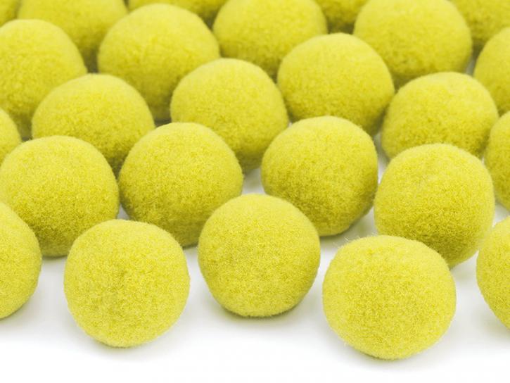 Pompons gelb 20 Stk.