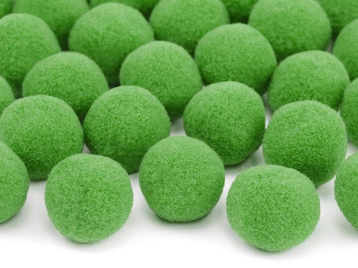 Pompons grün 20 Stk.