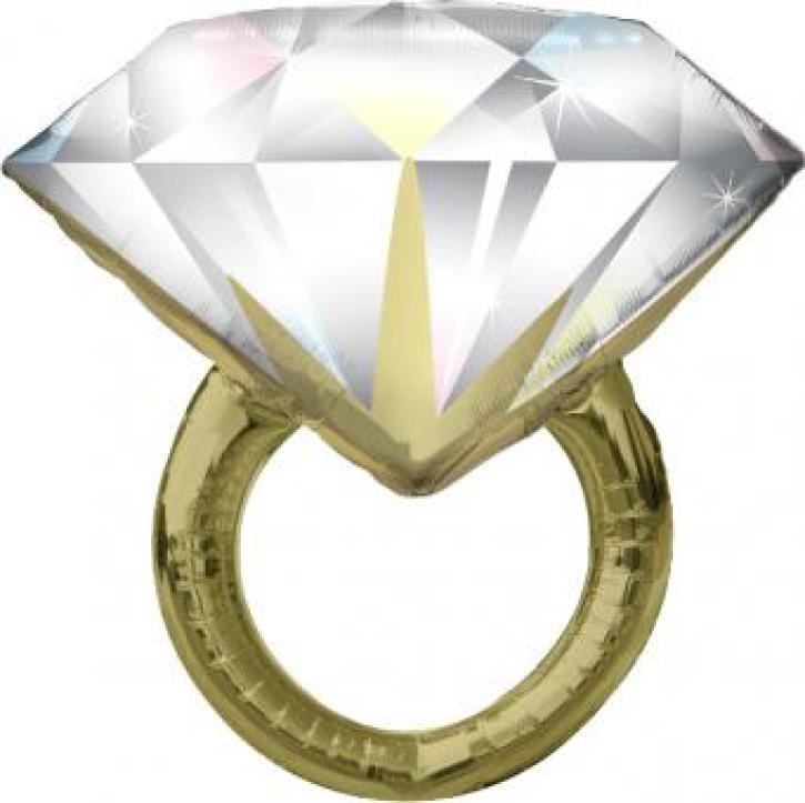 Folienballon Diamantenring gold