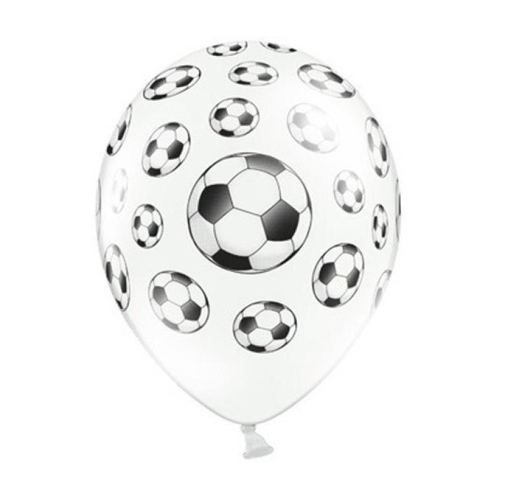 Latexballon Fußball 6 Stk.