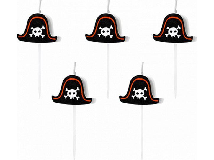 Kerzenset Pirate Party 5 Stk.