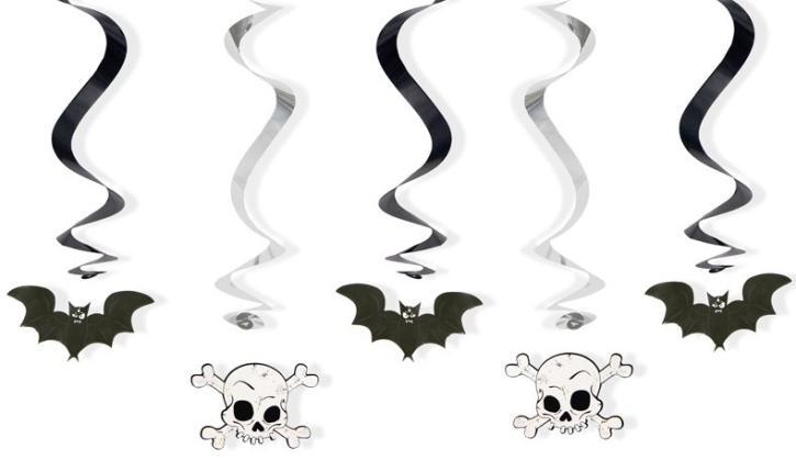 Dekospiralen hängend Halloween 5 Stk.