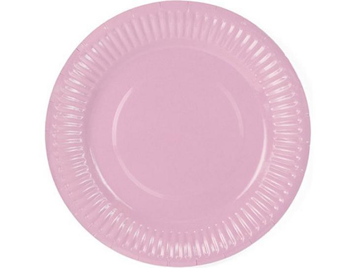 Teller rosa 6 Stk.