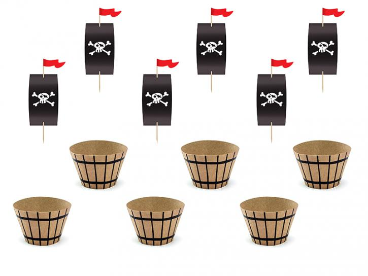 Cupcake Set Pirate Party 12 tlg.