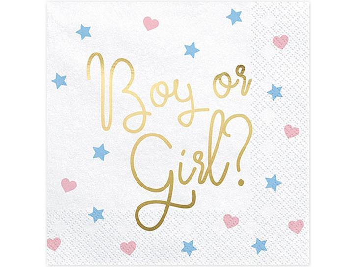 Servietten boy or girl babyshower 20 Stk.